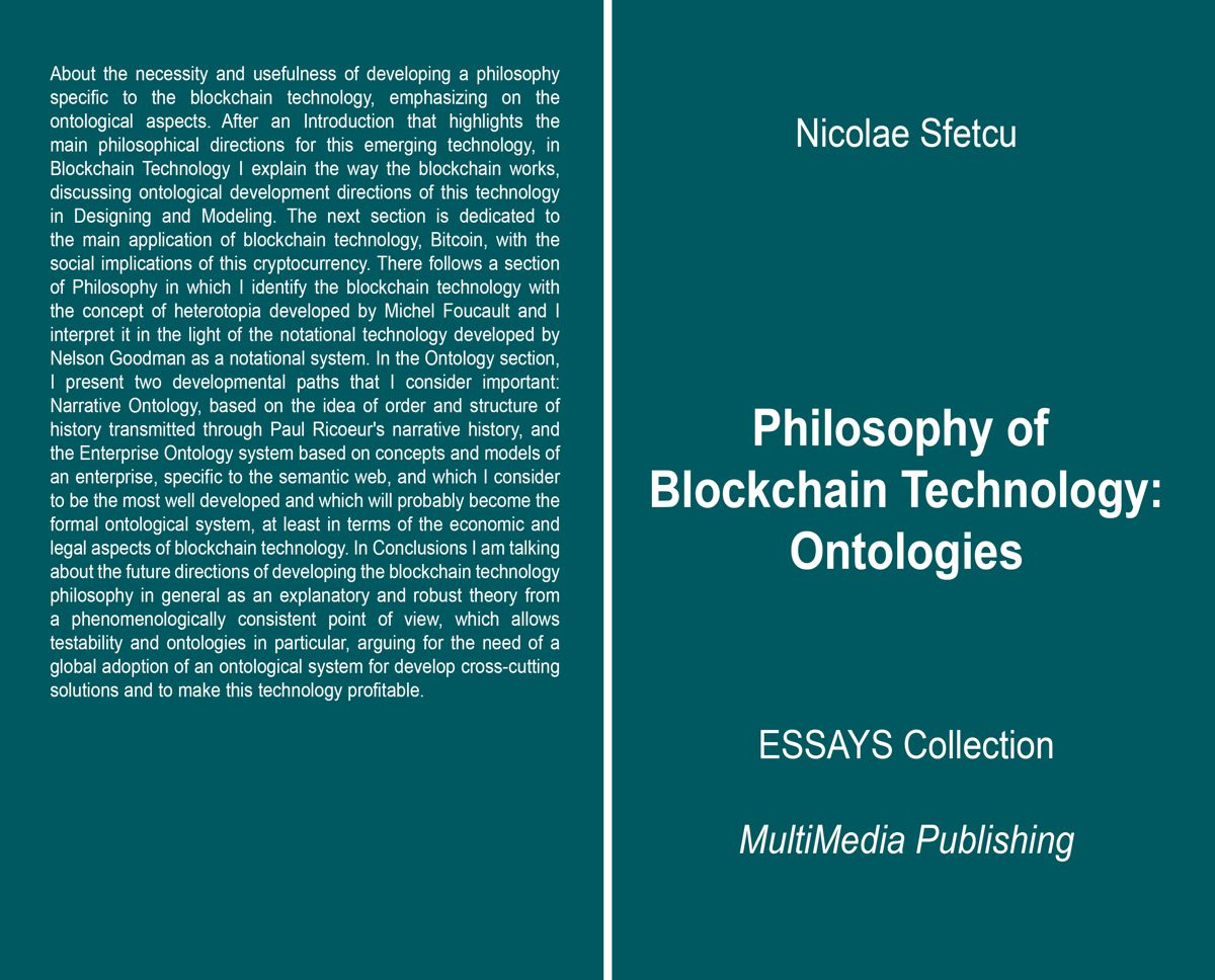 Philosophy of Blockchain Technology - Ontologies