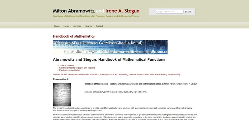 Handbook of Mathematical Functions with Formulas, Graphs, and  Mathematical Tables, by Milton Abramowitz and Irene A. Stegun